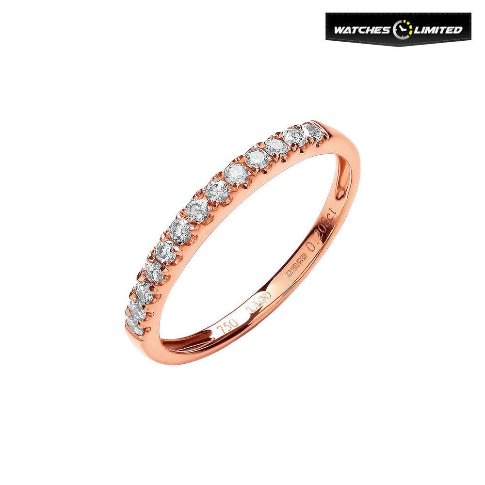 Ladies 18ct Rose Gold 0.25ct Diamond Half Eternity Ring Size L
